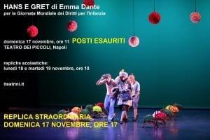 HANS E GRET di Emma Dante, ore 17 @ Teatro dei Piccoli | Napoli | Campania | Italia